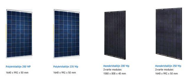 zonnepanelenformaat