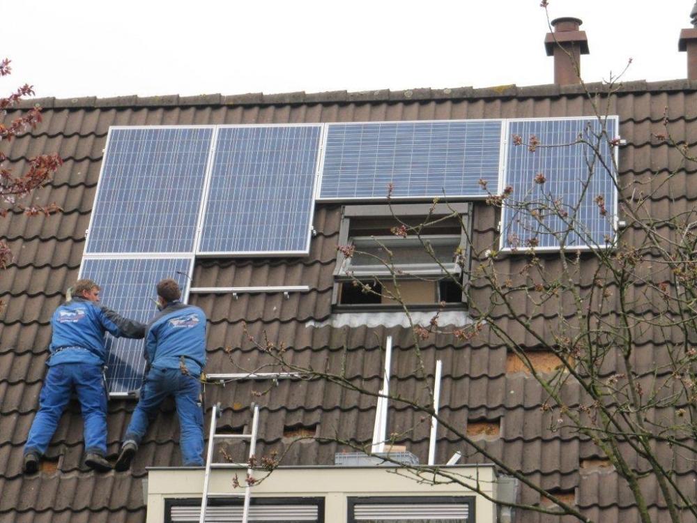 Eerste zonnepanelen collectieve inkoopactie geïnstalleerd