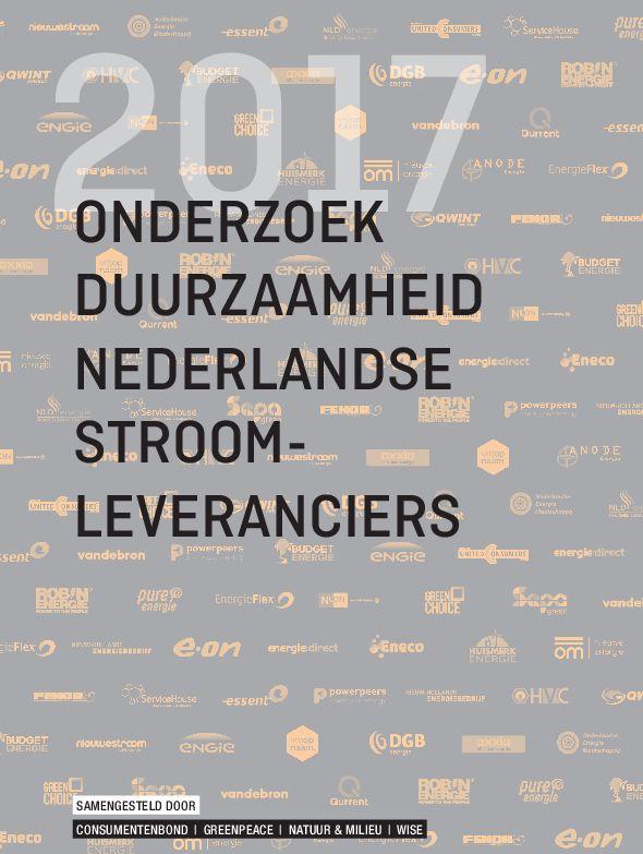 Onderzoek duurzaamheid Nederlandse stroomleveranciers 2017